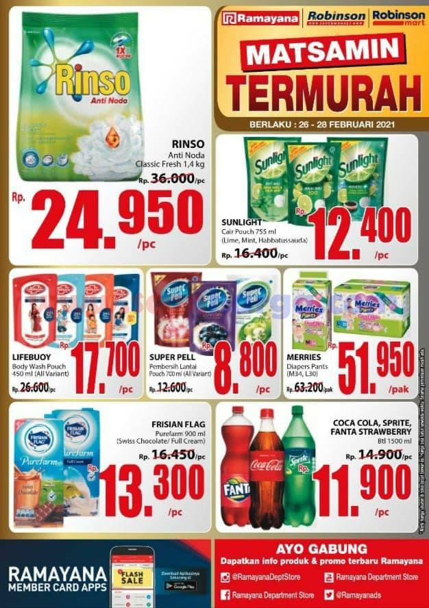Katalog Promo SPAR Dan Ramayana Supermarket 26 - 28 Februari 2021 2