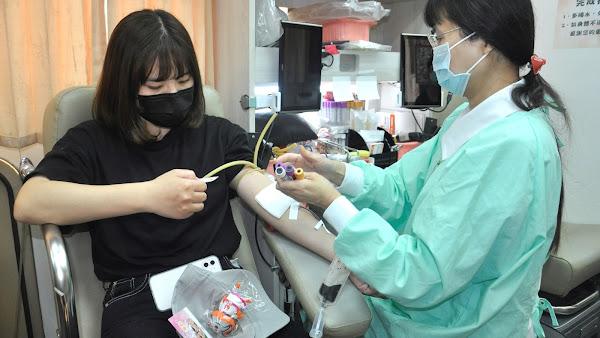 建國科技大學辦捐血活動 女生比男生更熱血