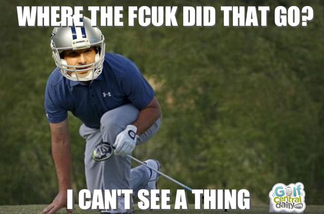 tony romo golf funny pic