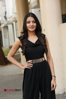 Telugu Actress Rukhsar Mir Stills in Black Long Dress at Aakatayi Movie First Look Launch  0081.JPG