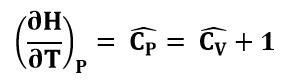 Expresión del calor específico de un gas ideal a presión constante