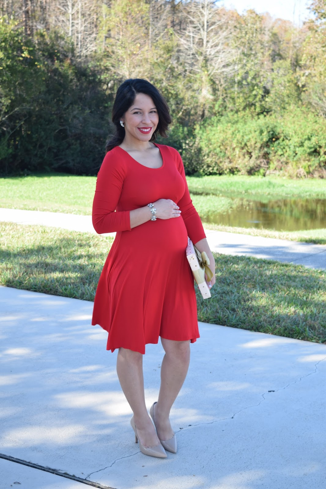 Christmas Baby Bump Fashion