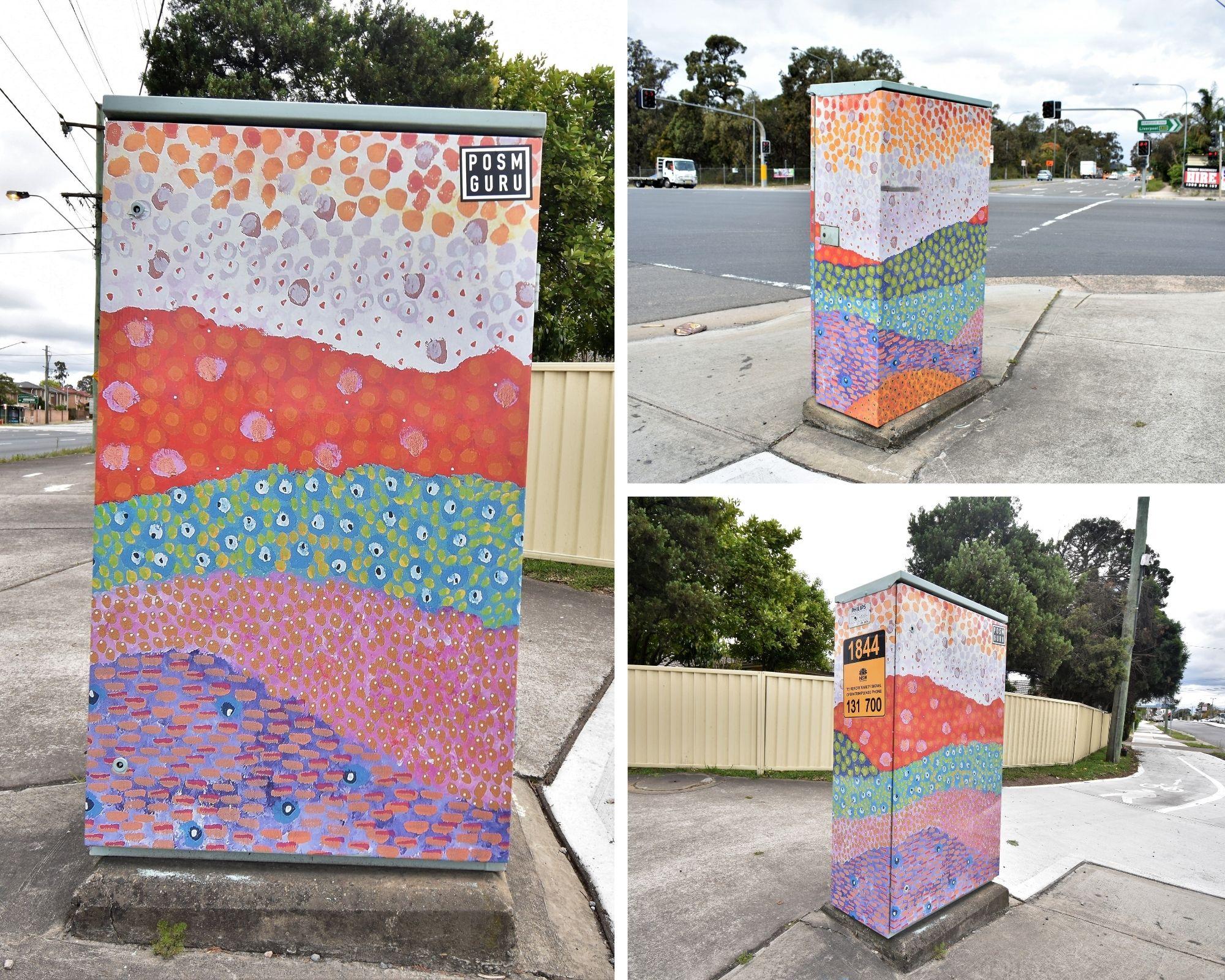 Aboriginal themed Signal Box in Chipping Norton