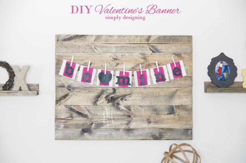 Valentine's Banner | #banner #diy #crafts #valentinesday #burlap