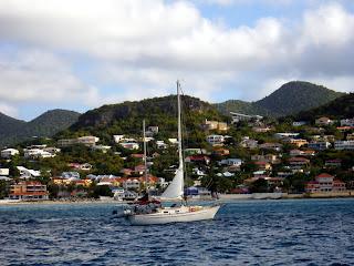pearson 365 ketch sailboat - cruising destinations, st. barts