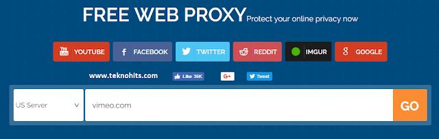 Membuka situs yang diblokir menggunakan situs web Proxy