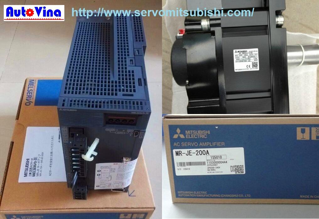 Tổng đại lý phân phối động cơ, bộ điều khiển AC Servo MR-JE-200A Mitsubishi, động cơ Motor HG-SN202J / HG-SN152BJ