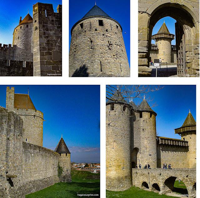Detalhes da Cidadela Medieval de Carcassonne