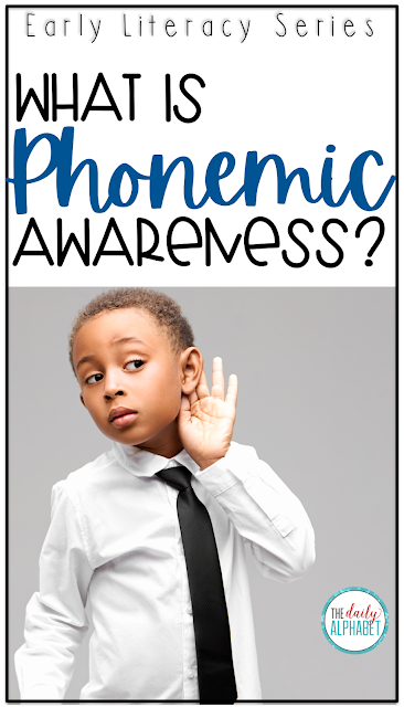 Phonemic awareness is all about the spoken sound, and it is the foundation for reading!