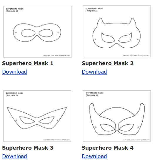 Mascaras De Super Heroi Para Imprimir Professores Herois