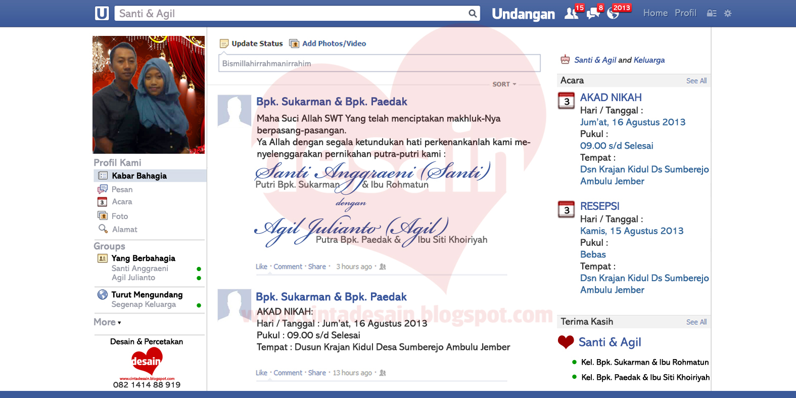 Undangan Model Facebook Format Adobe Photoshop Gratis Album Kolase