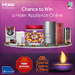 Haier Bonanza Contest Buy Get Assured gifts Offline And Get Chance To win Surprise Goodie Bags and Haier Products