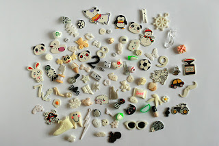 black and white TomToy Colorful I spy trinkets, Rainbow miniatures, Rainbow I spy bag filler, Colors I spy bottle, Color sorting activities, Color matching games