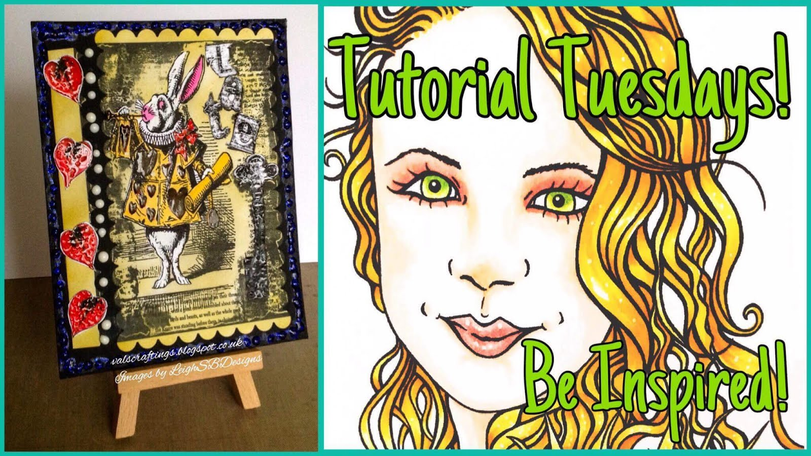 LeighSBDesigns Tutorial Tuesday, White rabbit grunge Collage