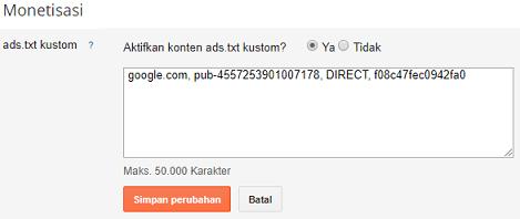 Upload ads txt