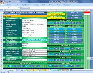 aplikasi raport kurikulum 2013 mapel