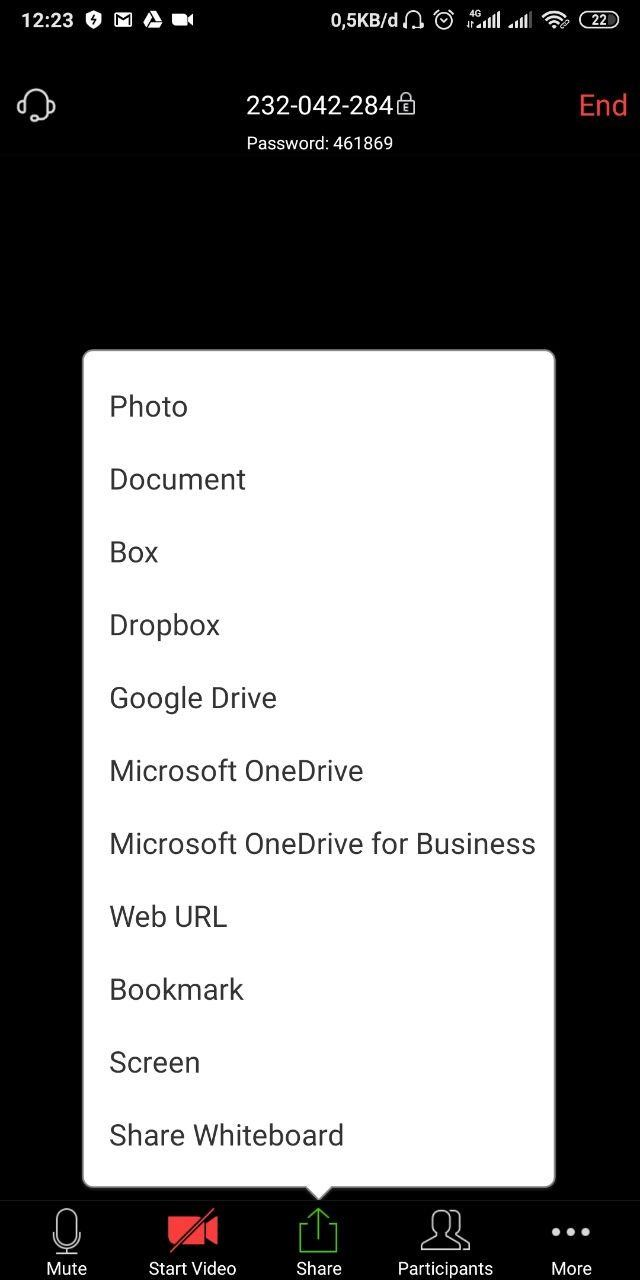 Cara Share Materi atau Presentasi di Aplikasi Zoom Andorid/IOS