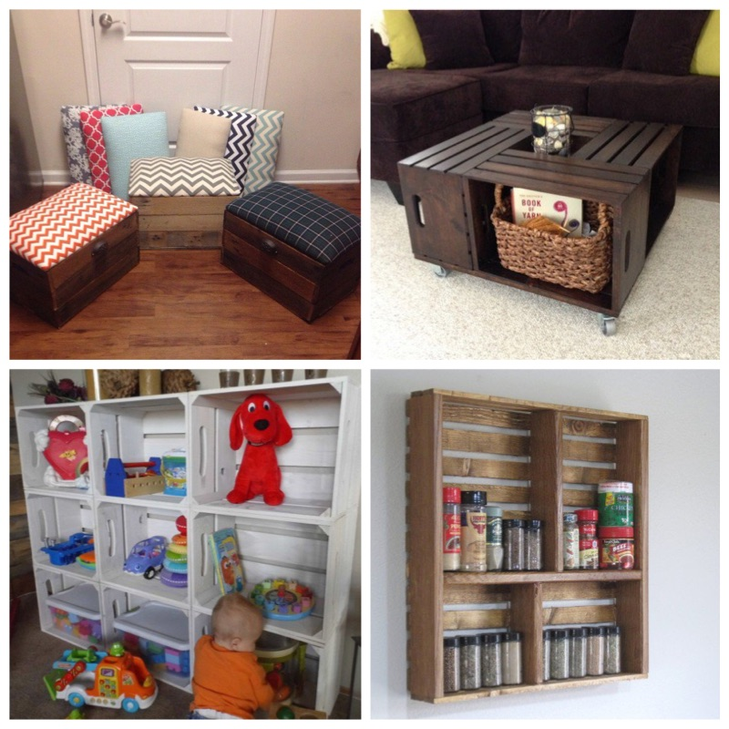 25 Creative DIY Project Ideas From Old Crates ~ Idees And Solutions