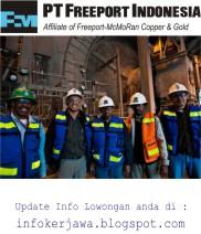 Loker Terbaru PT Freeport Indonesia