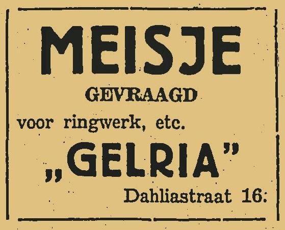 tabakvaria  TABAKSFABRIEK GELRIA in CULEMBORG