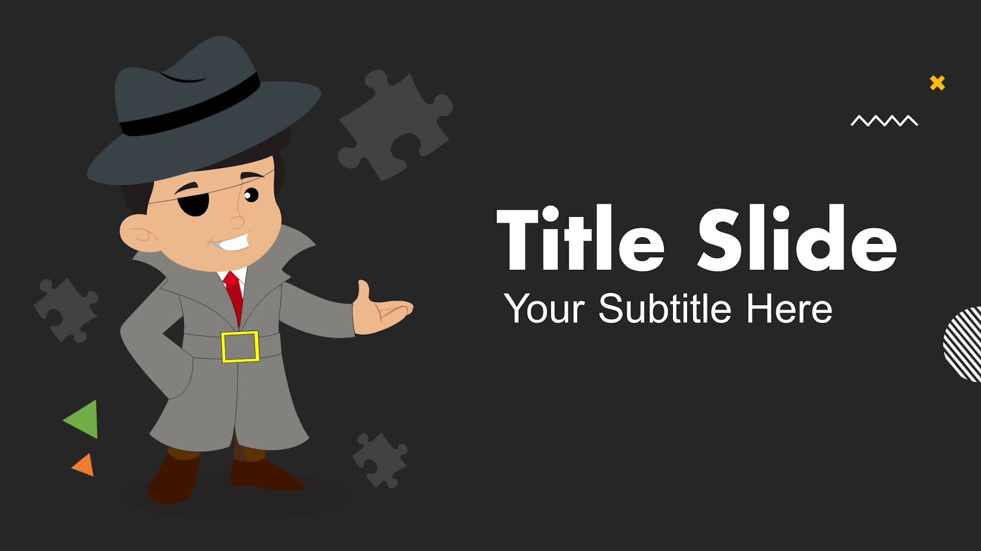 Cartoon Detective Google Slides and PPT template