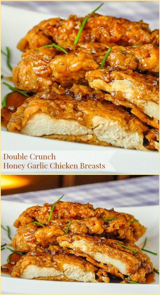 DOUBLE CRUNCH HONEY GARLIC CHICKEN BREASTS #recipes #healthychicken #chickenrecipes #healthychickenrecipes #food #foodporn #healthy #yummy #instafood #foodie #delicious #dinner #breakfast #dessert #lunch #vegan #cake #eatclean #homemade #diet #healthyfood #cleaneating #foodstagram