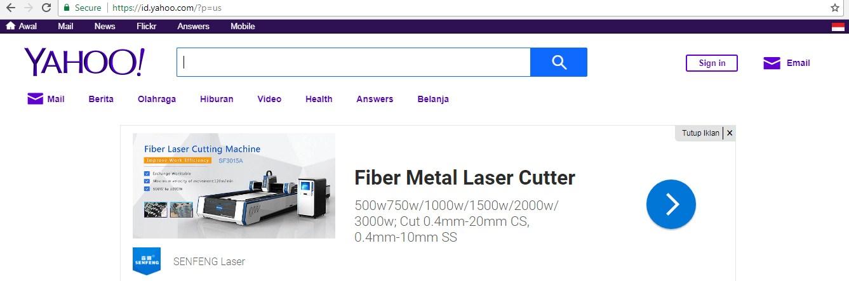 Tampilan Yahoo