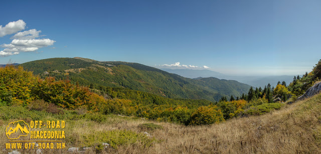Panoramic view toward North-East - with Dobro Pole area behind the hill, Nidze Mountain, Macedonia