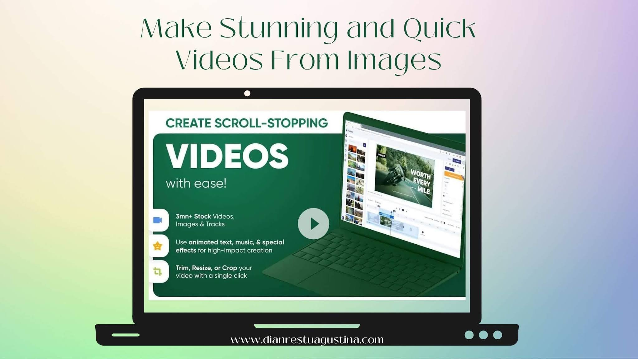 Make Stunning and Quick Videos from Images