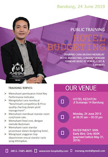 Hotelier Training Program (Bandung): Hotel Budgeting