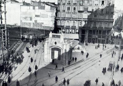 Fotografías de la construcción de la Gran Vía de Madrid