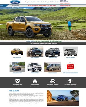 Mẫu website xe hơi - ô tô