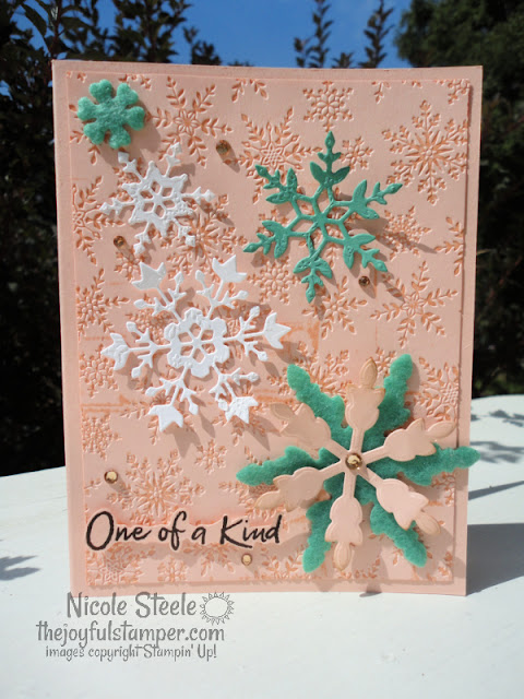 snowflake wishes, snowflake splendor, felt, winter cards, stampin' up!, handmade cards, learn to stamp, how to stamp, embossing folder technqiues, nicole steele, the joyful stamper, independent stampin' up! demonstrator, pittsburgh pa