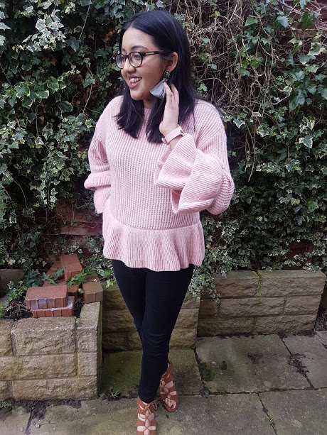 pink frill jumper