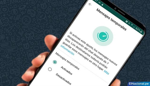 WhatsApp: cómo activar o desactivar los mensajes temporales