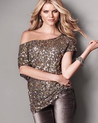 outfit casual con blusa de lentejuelas tumblr de moda