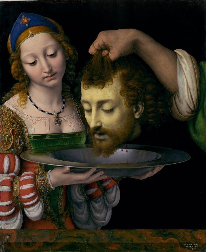 Саломея с головой Святого Иоанна Крестителя. Художник - Андреа Соларио