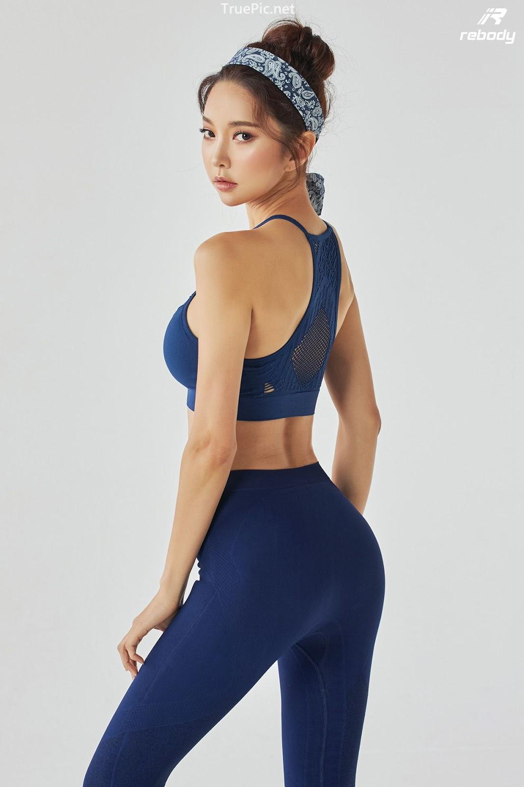 Park Soo Yeon - Sports Bra Fitness Set - Korean fashion model - Picture 4