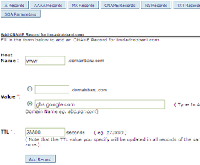 Cara Konfigurasi/setelan Domain di Cpanel: