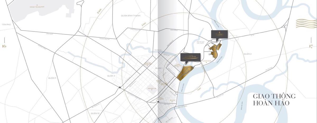 sơ đồ Vị trí dự án Vinhomes Golden River