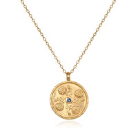 September Birthstone Pendant with Aster - Satya Jewelry - Jewellery Blog