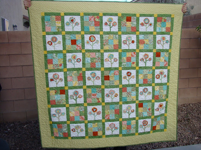 Bloom Where You Are Planted Quilt by Slice of Pi Quilts