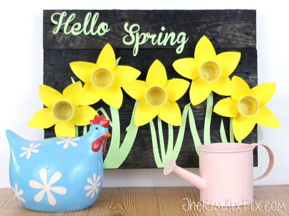 How to Repurpose K-Cups Into a Daffodil Sign