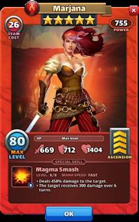 Marjana Empires & Puzzles Hero