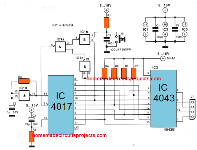 UP DOWN Sequence Controller Circuit