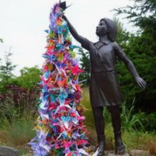 Photo of Statue of Sadako Sasaki. Peace memorial park