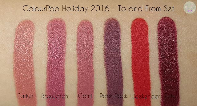 ColourPop Holiday 2016 - To and From | Kat Stays Polished