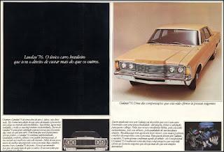 Propaganda 1975 - Ford  Galaxie  Landau -76, Ford-Willys anos 70, década de 70, Ford, Oswaldo Hernandez, década de 70, carros anos 70, Ford Landau 76,
