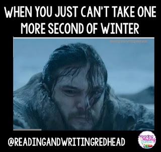 Jon Snow in winter storm looking upset