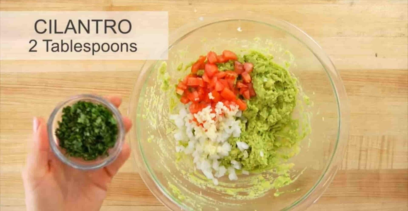 cilantro-2-tablespoons-in-mashed-avocado
